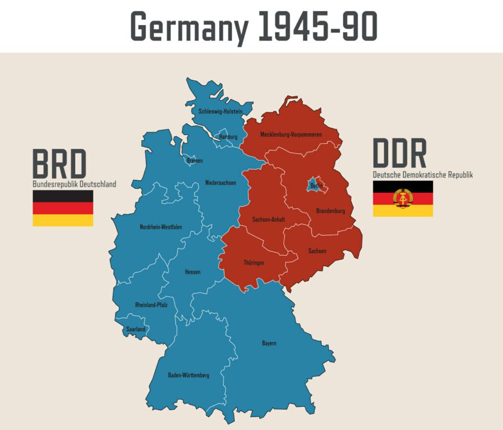 BRD / DDR Teilung vor dem Mauerfall Berlin