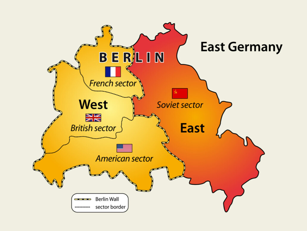 Grafik Sektorgrenzen - Mauerfall Berlin